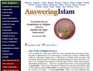 answering Islam, Islam, Culture Shock, Missionary